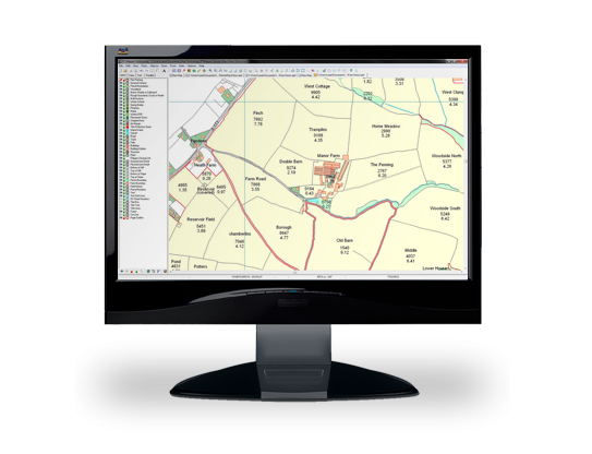 Monitor showing PTMapper